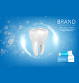 whitening toothpaste ad vector image