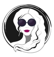 Woman fashion with sunglasses vector image vector image
