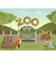 Zoo with forest animals vector image vector image