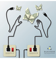 Electric Wire Line Business Infographic vector image