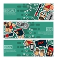Set of Horizontal Banners about sexual vio vector image