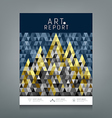 Cover report triangles geometric concept vector image