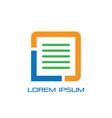 document office finance logo vector image