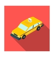 Taxi car icon in flat style isolated on white vector image
