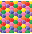 Colorful game gemstones seamless pattern vector image