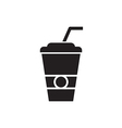 Paper Cup Silhouette vector image