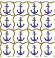 anchor and rope seamless pattern vector image vector image