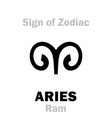 astrology sign of zodiac aries the ram vector image