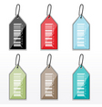 barcode tags vector image vector image