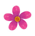 beautiful flower decoration icon vector image vector image