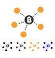 bitcoin net structure icon vector image vector image