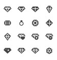 black diamond icons set vector image vector image