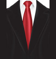 black suit with red tie vector image vector image