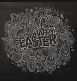 cartoon hand drawn doodle happy easter vector image vector image
