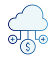 cloud with money flat icon monetization cloud vector image