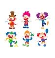 Clown character cartoon vector image vector image
