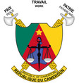 coat of arms of republic of cameroon vector image