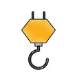 crane hook construction equipment mechanical vector image