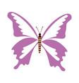 cute purple butterfly cartoon vector image