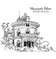 drawing sketch monserrate palace in portugal vector image