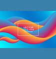 dynamic composition modern design 3d flow shape vector image vector image