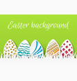 easter paper cut colorful eggs vector image vector image