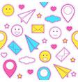 emoticon pattern vector image vector image