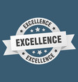 excellence ribbon excellence round white sign vector image vector image