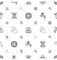 flow icons pattern seamless white background vector image vector image