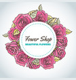 flower shop floral background for beauty salon vector image vector image