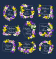 flowers frames for wedding cards vector image vector image