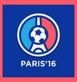 football or soccer france euro 2016 logos vector image vector image