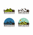 forest mountain adventure badge logo set vector image