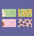 fruit business cards template collection vector image