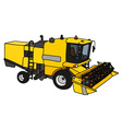 Funny yellow harvester vector image