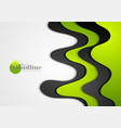 green and black abstract corporate wavy background vector image vector image