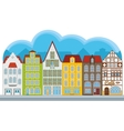 Group of small houses vector image vector image