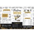 hand drawing christmas holiday menu design vector image