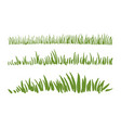 hand drawn ink grass set vector image vector image