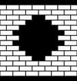 hole in a brick wall vector image vector image