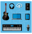 Home music studio concept vector image