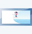 hot summer vacation girl jumps into sea vector image vector image