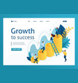 isometric successful growth investment vector image vector image