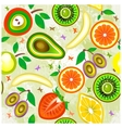 Juicy fruits Seamless Pattern vector image