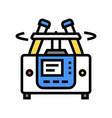 Laboratory centrifuge color icon isolated