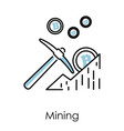 mining isolated icon bitcoin or digital money vector image