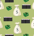 money seamless pattern vector image