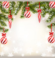 new year christmas greeting card with striped vector image