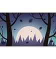 Night Cartoon Landscape vector image