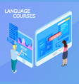 online language courses isometric 3d vector image